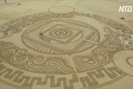 Шедеври на кілька годин: хорватський майстер малює на пляжах