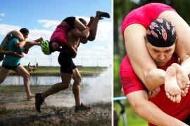 Веселі змагання з перенесення дружин улаштували в Угорщині