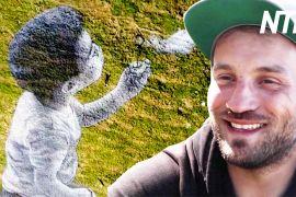 Живопис на траві: гігантська картина на горі у Швейцарії