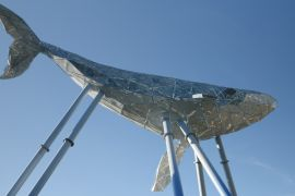 Великий синій кит зі сміття: у Києві з'явився новий артоб'єкт