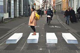 Оптичні ілюзії з'явилися на пішохідних переходах у Данії