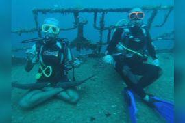 Підводної йоги навчають у Сент-Люсії на Карибському морі